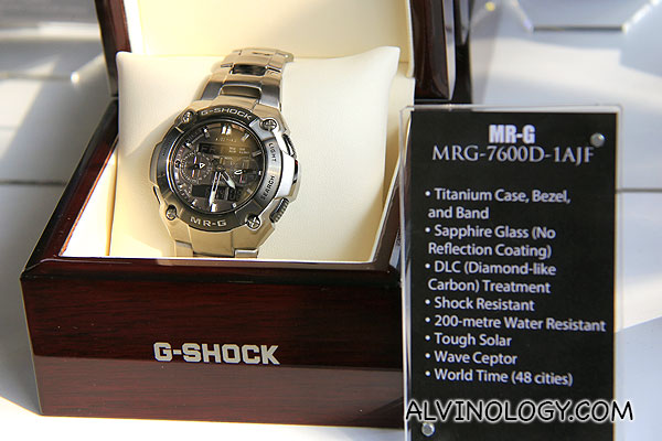 MR-G with titanium case