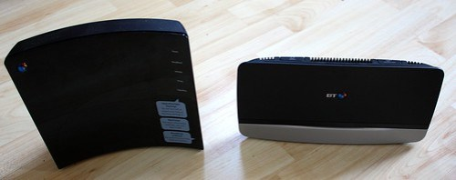 BT Home Hub 2 (left) and BT Home Hub 4 (right)
