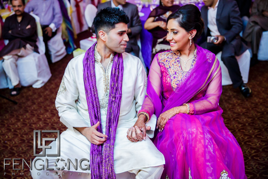 Indian bride and groom on wedding weekend