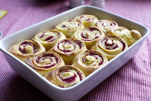 from the oven, cranberry-orange buns