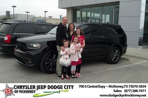 Thank you to Sean & Kraystal Bayrd  & Family on your new 2014 #Dodge #Durango from Bobby Crosby and everyone at Dodge City of McKinney! #NewCarSmell by Dodge City McKinney Texas