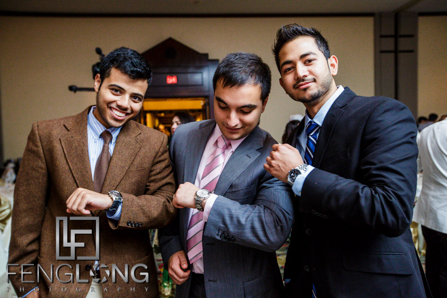 Basit and friends show off watches