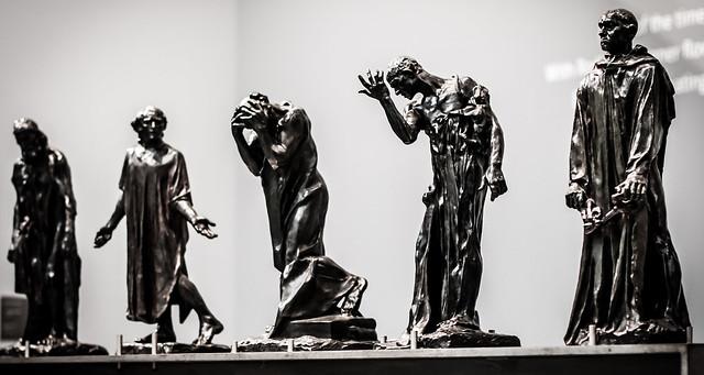 Les bourgeois de Calais, Auguste Rodin, Lille, France, Le Palais Des Beaux Arts