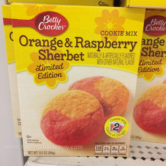 Betty Crocker Orange & Raspberry Sherbet Cookie Mix