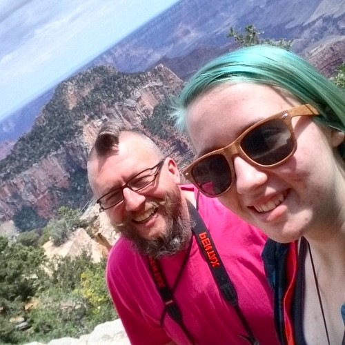 We're at the Grand Canyon! #sieverroadtrip