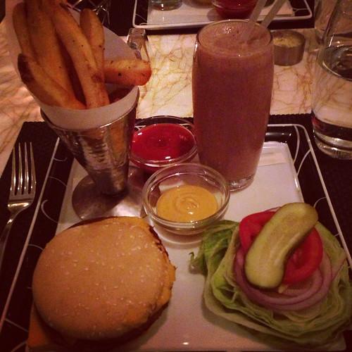vegan double cheeseburger