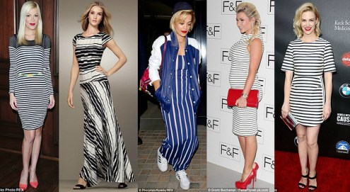 How to style nautical stripes  Stripes Are Back    FashionCadet how to wear striped dresses  stripe skirts  stripe tops