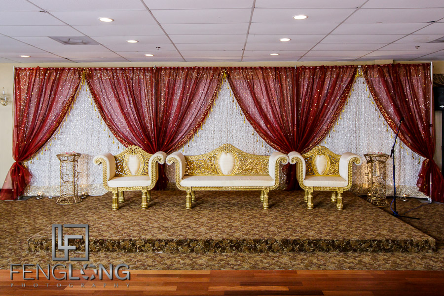 Valima wedding stage and couch