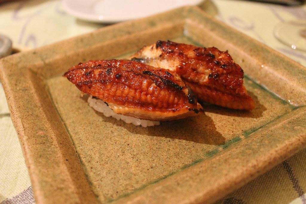 Nigiri de anguila en Shunka