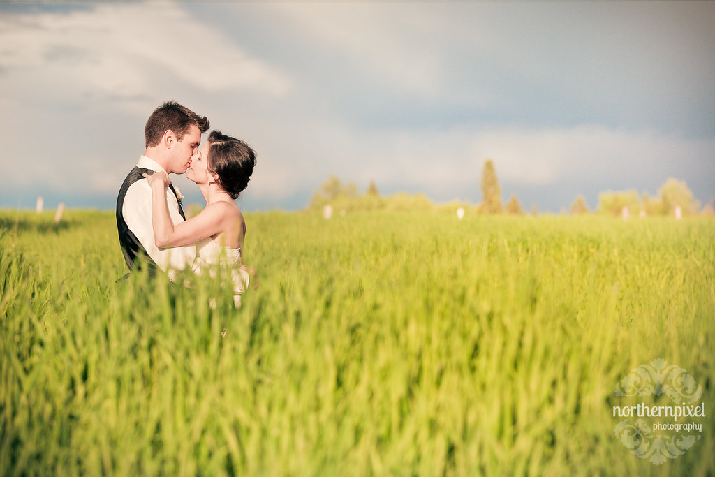 Prince George BC Farm Wedding Photography Field Grass