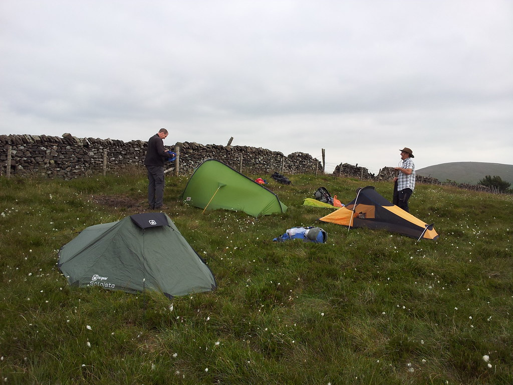 Saturday night's camp on Burbage Edge