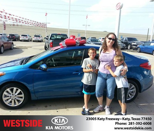 Thank you to Karin Negron on the 2013  from Wilfredo Suliveras and everyone at Westside Kia! by Westside KIA