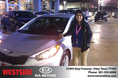 Thank you to Fanery Orozco on your new 2014 #Kia #Forte from Orlando Baez and everyone at Westside Kia! #NewCarSmell by Westside KIA