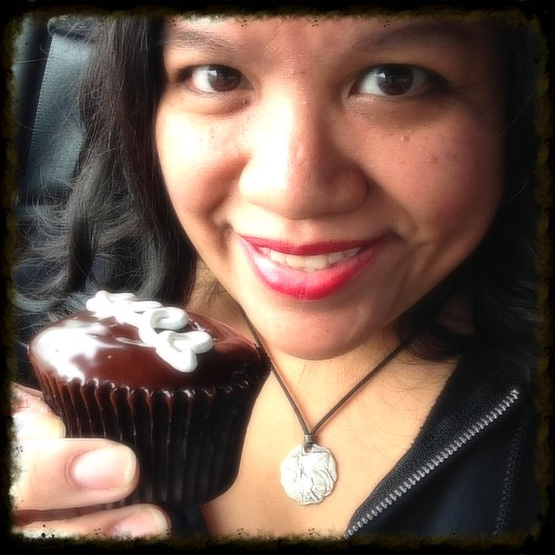 me and a Sweet Bliss cupcake