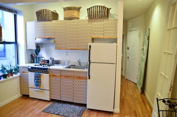 DIY Kitchen Cabinet Makeover for Renters | Stars for Streetlights