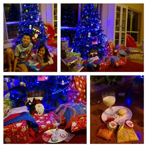 Santa has come to visit! And, the rest of the grown-ups went a bit overboard with the pressies again, methinks. ;) Looking forward to the kids' reactions in the morning. How amazing is it that we get to celebrate Jesus' birthday around the world this way,