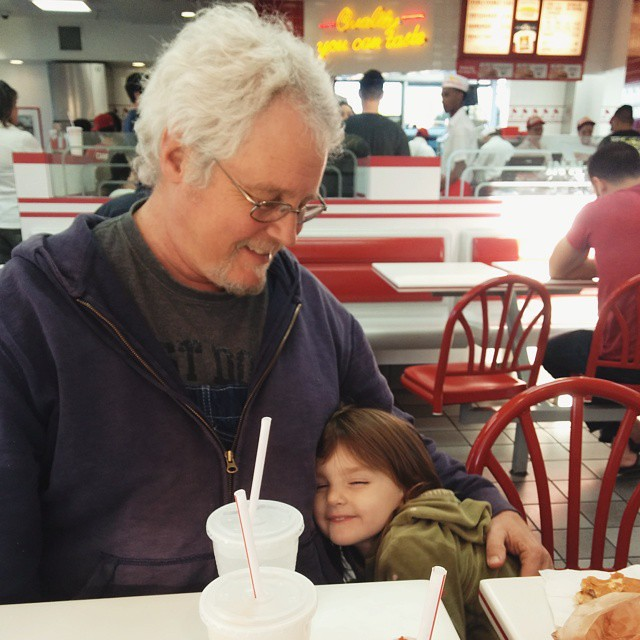 Grandpa's first trip to In 'n Out Burger... it's a hit!