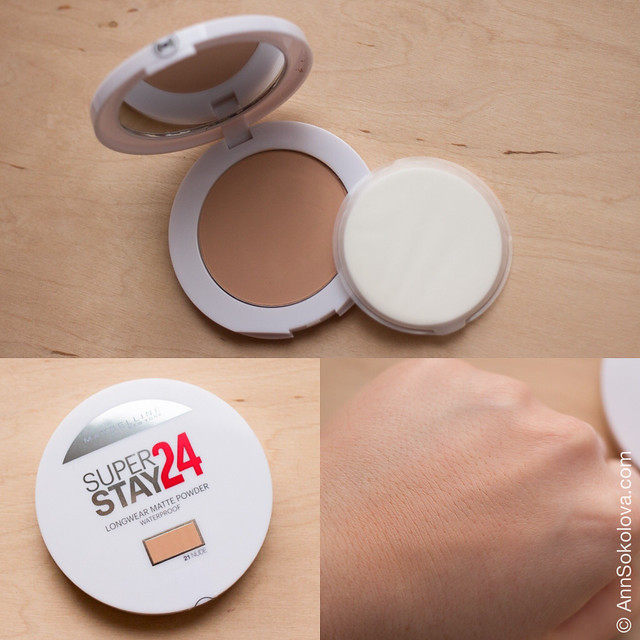 05 Maybelline Stay 24 Longwear Matte Powder #21 Nude swatches