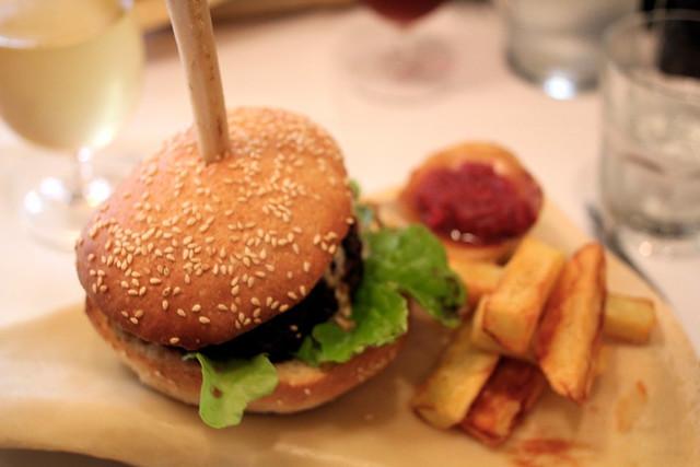 Friday: Burger on a bone!