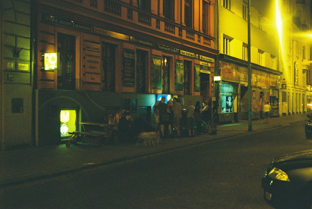Café at Night (redscale film)