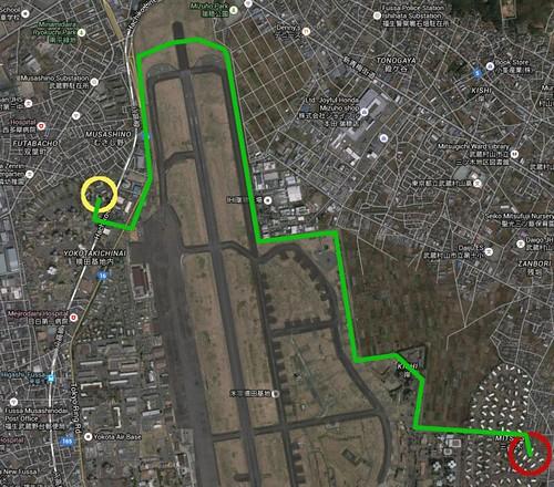 Yokota Air Base Japan perimeter road