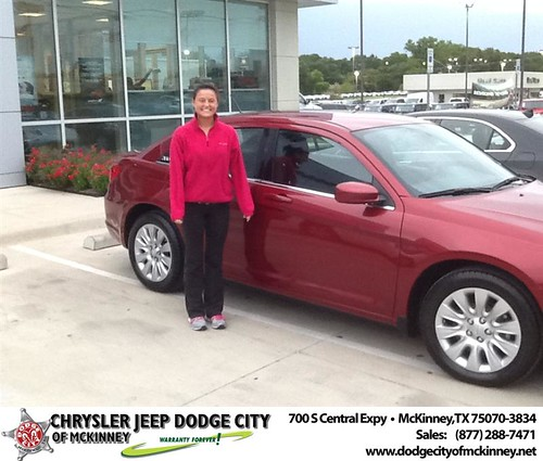 Thank you to Autumn Martin on your new 2013 #Chrysler #200 from Joe Ferguson  and everyone at Dodge City of McKinney! #BrandNewRide by Dodge City McKinney Texas