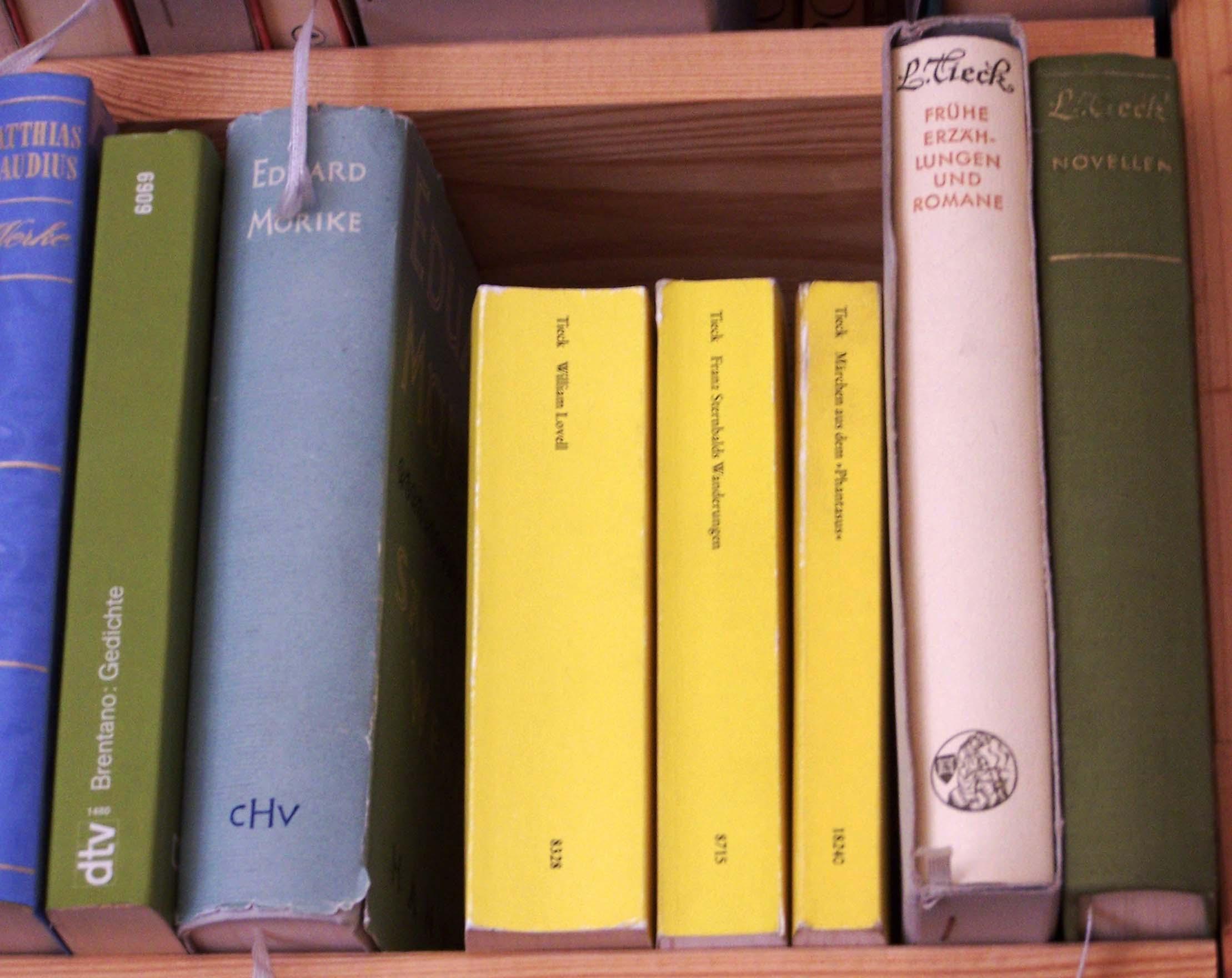 Ludwig Tieck, Bücherregal
