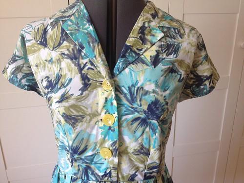 floral Vogue 5121 front bodice