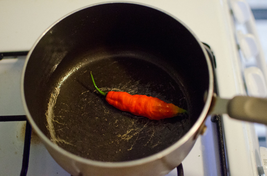 cooking the pepper