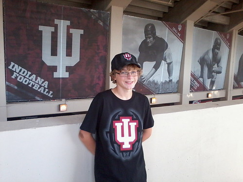 IU vs Navy - Aiden's first college football game