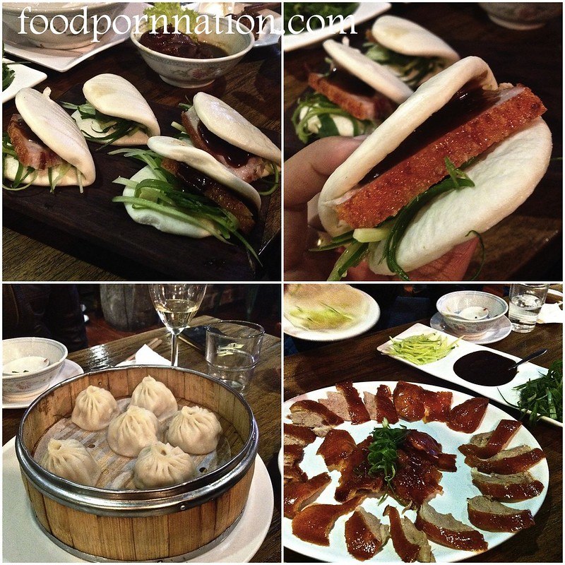 peking duck, pork bun, dumpling collage - fpn