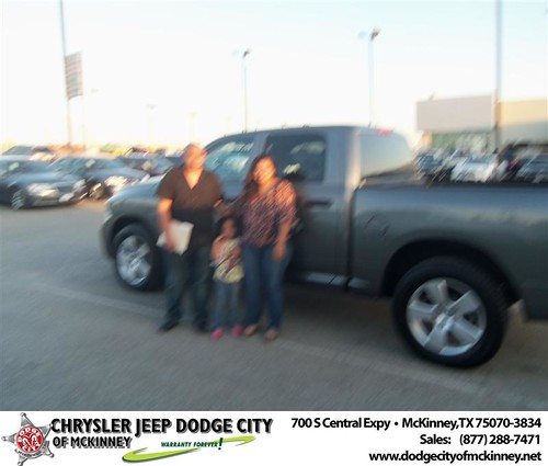 Dodge City of McKinney would like to say Congratulations to Vidal Estrada on the 2012 Dodge Ram by Dodge City McKinney Texas