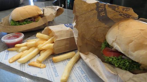 vegan tofu burger at fergburger, queenstown