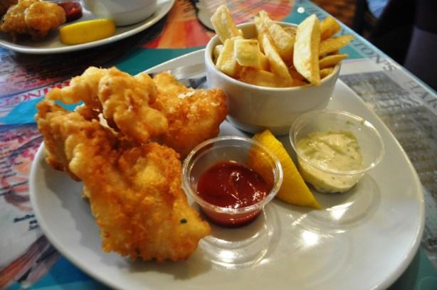 Light and Crispy Fish & Chips at Harrington's in Dingle, Ireland