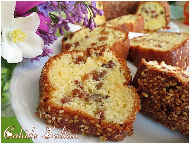 Kendi elleriyle kek gelen lezzetli kek
