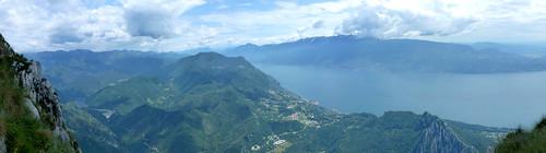 Gargnano, Monte Baldo, Garda lake from pizzocolo