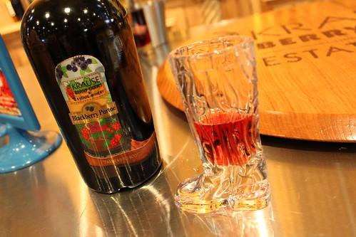 Blackberry port-style wine at Krause
