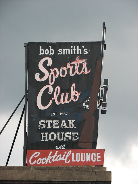 Sign for Bob Smith's Sports Club, Hudson, WI