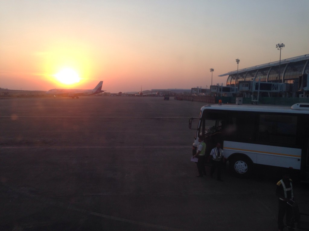 Sunset at Goa Dabolim airport