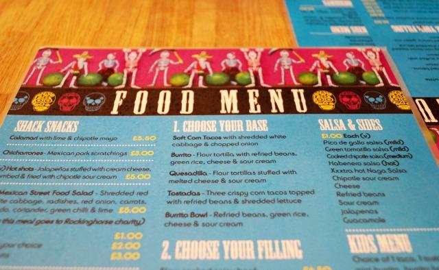 La Choza-menu