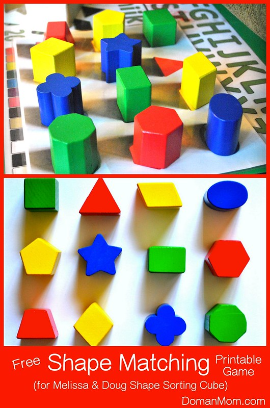 Free Shape Matching Printable Game (for Melissa & Doug Shape Sorting Cube)