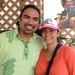 The University of Hawaii delegation coordinator Aaron Sala and his wife Makanani stop for a moment to enjoy the festivities at the Smithsonian Folklife Festival.