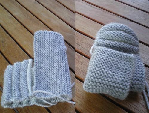 tricot layette chaussons citrouille hollandais
