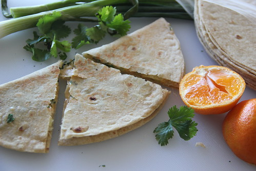 Vegetable Dinner Quesadillas