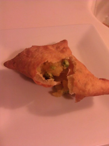 Homemade Potato and Pea Samosa