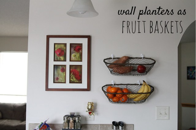 Wall Planters as Fruit Baskets