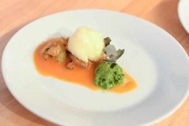 The Strand House ricotta gnudi, heirloom tomato pomodoro, pesto gelato