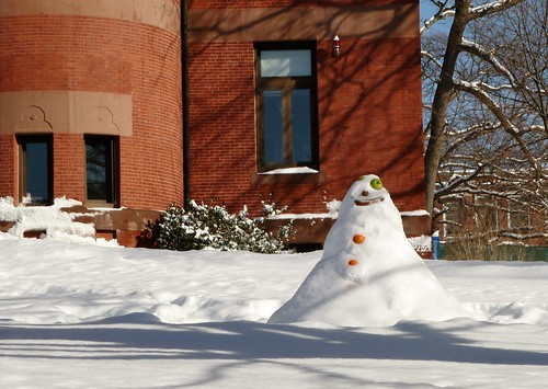 Fruity snowman