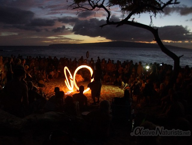 fire-spinners 0001 Little Beach, Maui, Hawaii, USA