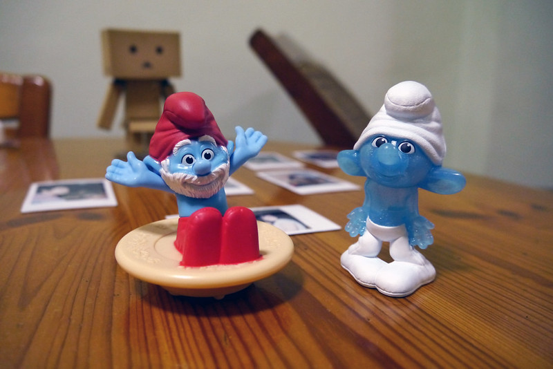Papa Smurf and Clumsy